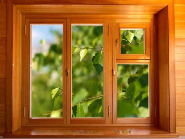Деревянные окна в Леруа Мерлен