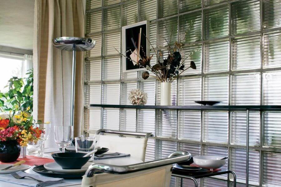 Современные стеклоблоки в интерьере