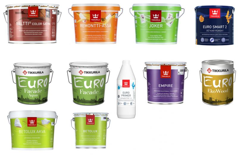 Краска тиккурила - обзор всех видов и цветов для самых различных целей!