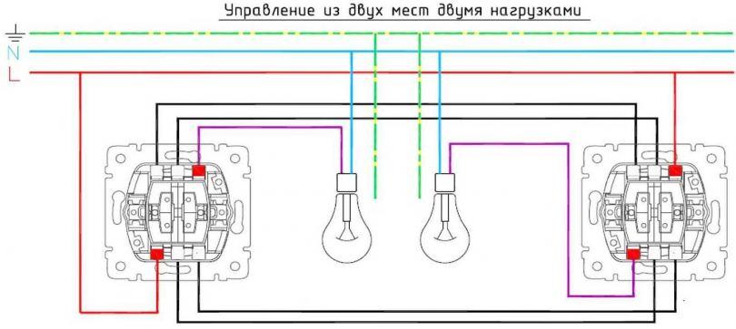 Двойной выключатель - виды, устройство, особенности выбора и варианты подключения выключателя