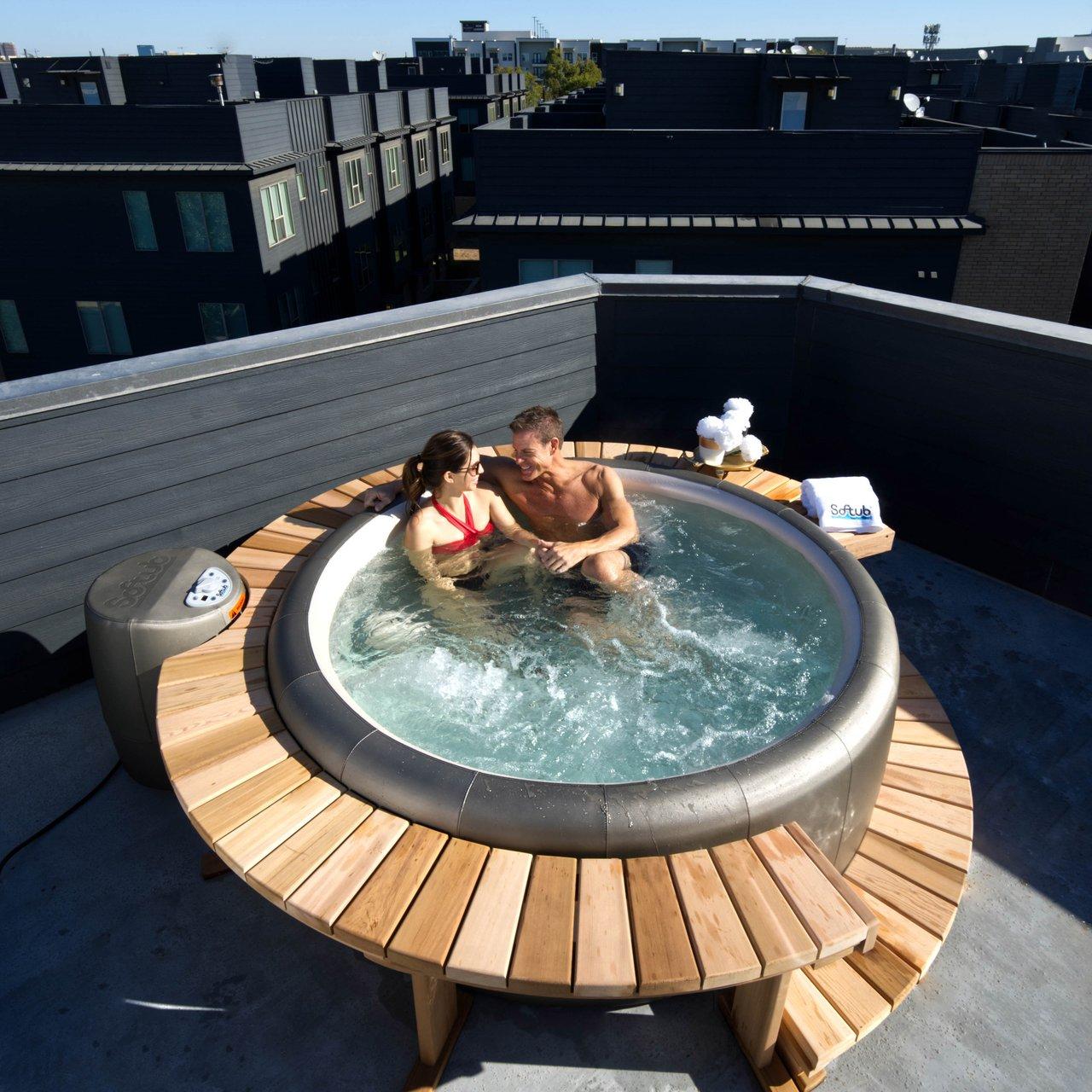 Гидромассажная ванна на свежем воздухе